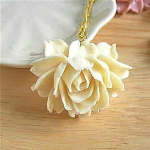 原創 手作 甜美盛開的薔薇花 項鏈