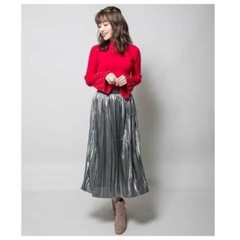 ミリオンカラッツ Million Carats 【STYLE4】メタルプリーツスカート (グレー)