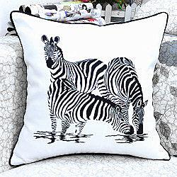 北歐風格時尚斑馬印花沙發靠枕 抱枕 腰枕 靠背墊