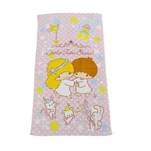 【Sanrio三麗鷗】雙星仙子40週年中浴巾 100%棉 60x110cm