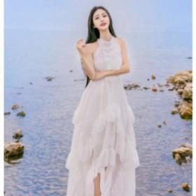 パーティードレス ロングドレス ナイトドレス ウエディングドレス お花嫁 二次会ドレス 白ドレス ホワイト ワンピース 演奏会