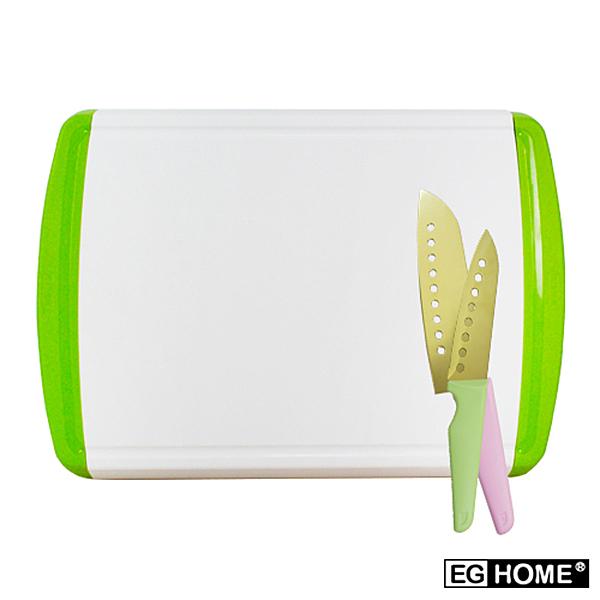 宜居家 多功能抽屜式收納砧板組(砧板x1+廚房雙刀組)