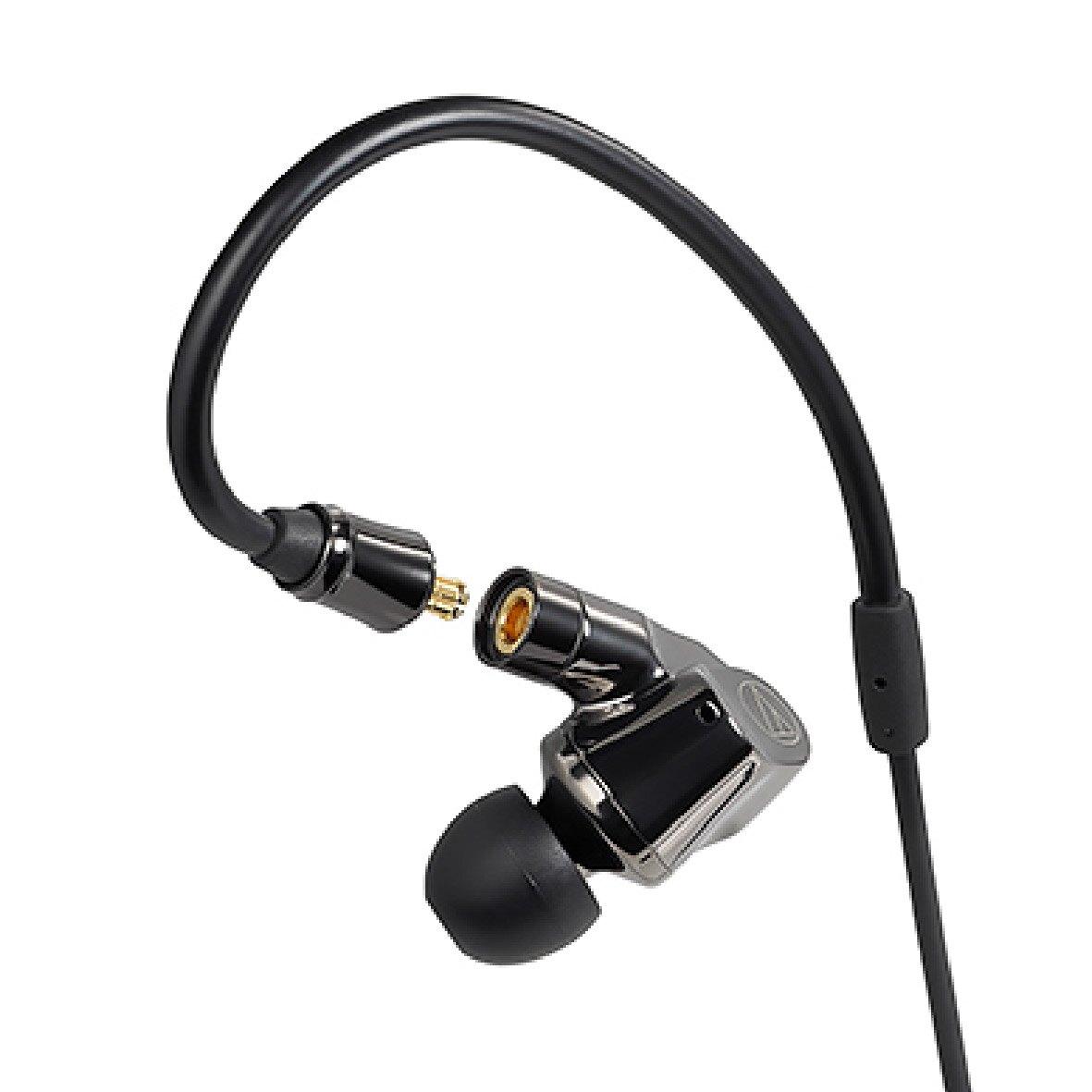 鐵三角 ATH-IEX1 黑色 平衡電樞與被動輻射器耳道 入耳式耳機    金曲音響