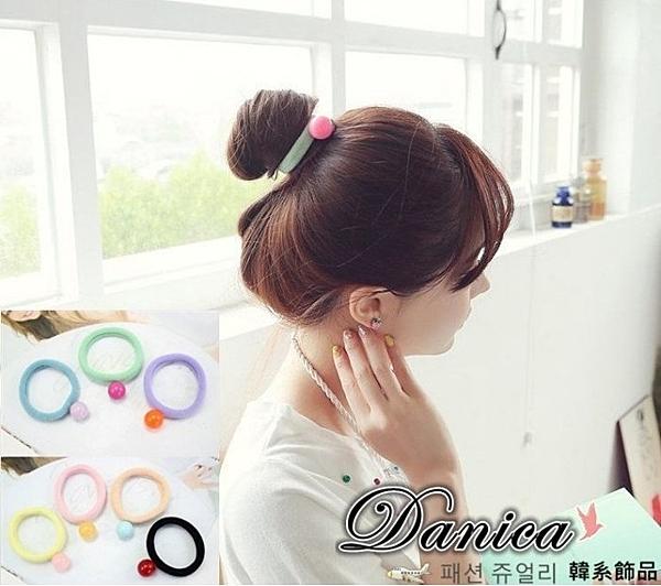 髮束 現貨 韓國氣質甜美 百搭糖果馬卡龍球球 髮束(7色) S7423 批發價 Danica 韓系飾品