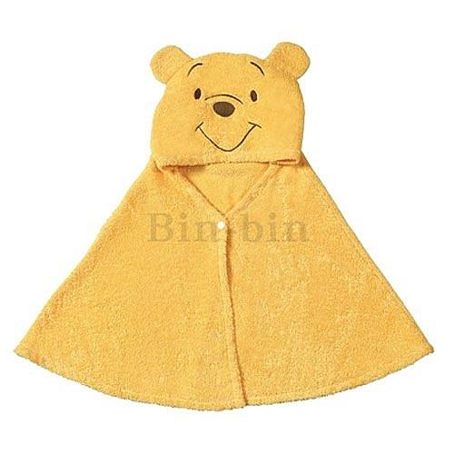 迪士尼 維尼熊帶帽披肩/740-348