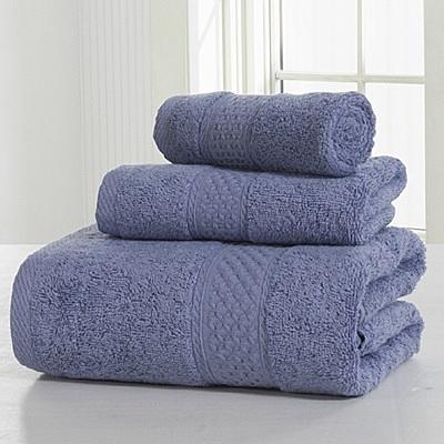 浴巾三件套含浴巾+毛巾+方巾-簡約純色柔軟舒適純棉衛浴用品12色72t11[時尚巴黎]