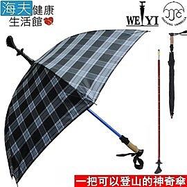 【海夫健康生活館】Weiyi 正昌 三合一 登山杖 健走杖 傘杖(JCSU-J01/沉穩藍)