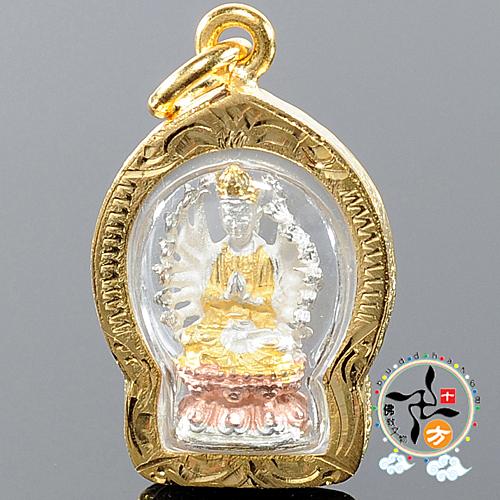 準提佛母(三色金)墜飾 【十方佛教文物】
