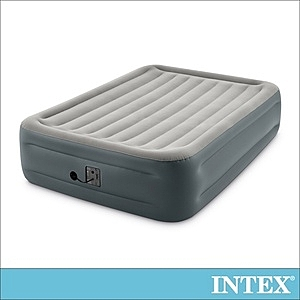 INTEX豪華加高雙人加大充氣床-寬152x高46cm(64125)