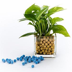 陶碳球 250g 藍色 負離子效果 無土栽培/水培/小盆栽/水族