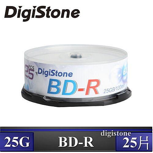 ◆免運費◆DigiStone 空白光碟片 國際版 A+ 藍光 Blu-ray 6X BD-R 25GB 空白光碟片 (支援CPRM/BS) x25PCS