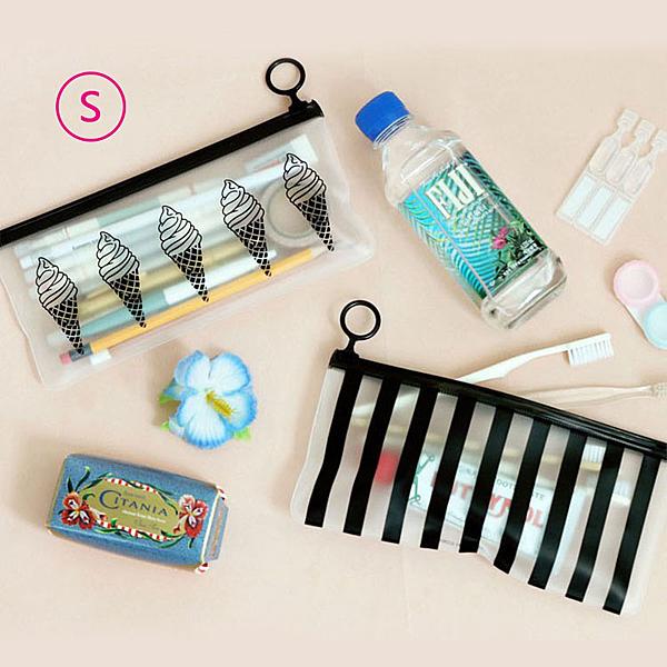 『藝瓶』半透明旅行護照票據包 收納袋 洗漱袋 化妝包 霧面PVC防水袋-S