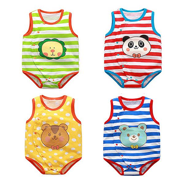 無袖包屁衣 Babybear 動物造型 嬰兒背心 CAB2244