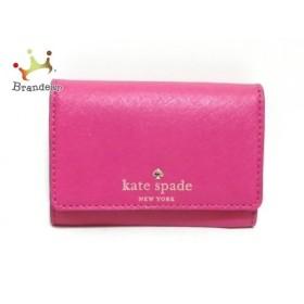 ケイトスペード Kate spade コインケース PWRU3897 ピンク キーリング付き レザー 新着 20191107
