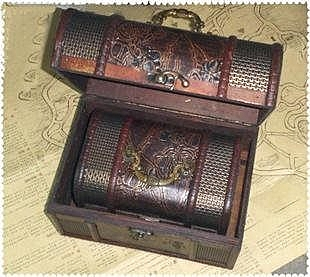 古典復古木質小收納箱大碼三件套 拍攝道具