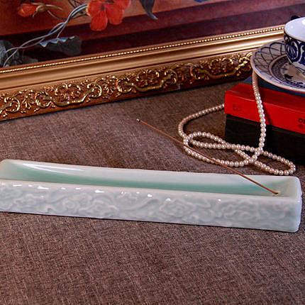 香插陶瓷線香座手工瓷香插