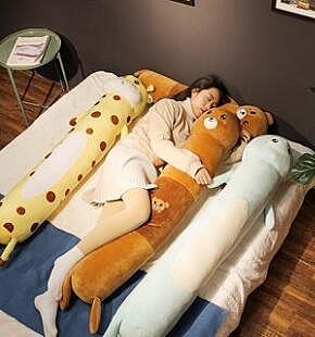 可愛長條娃娃毛毛蟲枕抱枕睡覺枕頭可拆洗 cf