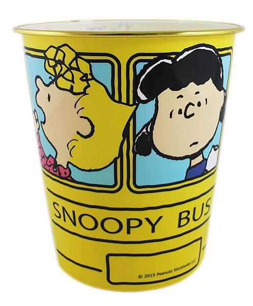 【卡漫城】 Snoopy 垃圾桶 公車 23cm ㊣版 日版 辦公室 垃圾筒 塑膠桶 史努比 史奴比 糊塗塔克 家飾