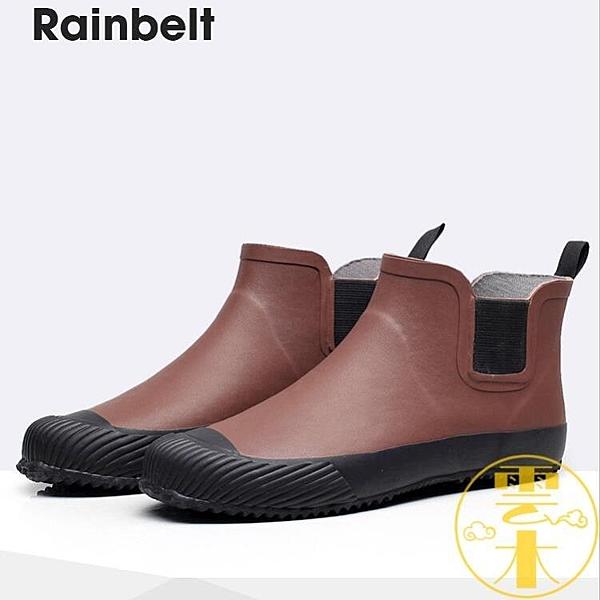 雨鞋防水鞋男士雨鞋時尚短筒雨靴戶外防滑膠鞋【雲木雜貨】