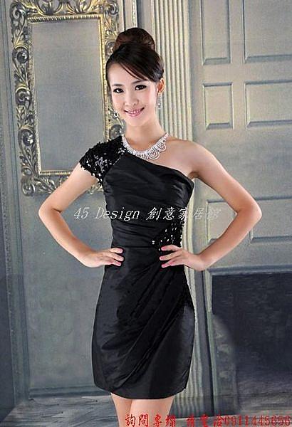 (45 Design)  客製化   2014新款明星款伴娘婚紗短款禮服敬酒結婚小禮服裙晚宴女包臀修身