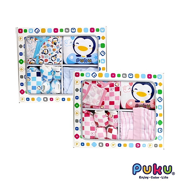 藍色企鵝 PUKU 彌月禮盒 新生兒禮盒 7件組 29801 好娃娃