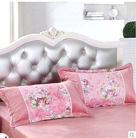 單人加厚斜紋印花保暖枕套 一個價