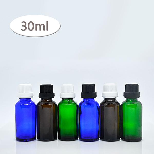 『藝瓶』空瓶空罐 化妝保養品分類瓶 遮光精油瓶 3色黑白大頭蓋玻璃分裝瓶-30ml