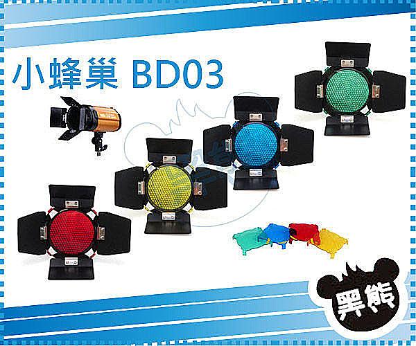 黑熊館 GODOX 神牛 96MM 孔距 4mm 小蜂巢罩 保榮卡口 標準罩 BD-03 濾色片 摺疊葉片