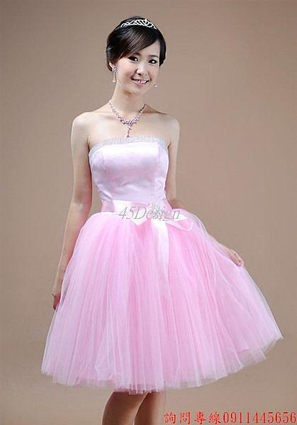 (45 Design)  客製化 定製款7天到貨  小禮服伴娘晚禮服短款敬酒服 演出服 外貿婚紗