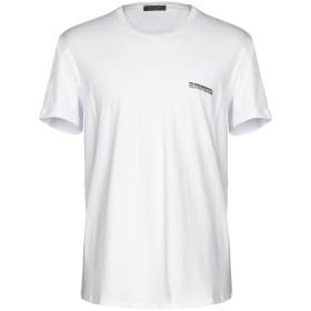 《セール開催中》ROBERTO CAVALLI メンズ アンダーTシャツ ホワイト M コットン 94% / ポリウレタン 6%
