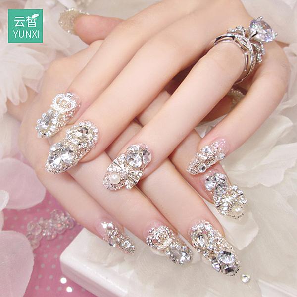 指甲貼片指甲貼紙防水持久美甲貼紙全貼韓國3d可穿戴飾品美甲成品 店慶降價