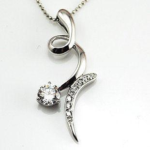 925純銀 八心八箭瑞士鑽石吊墜 項墜 時尚星花點綴款 禮物