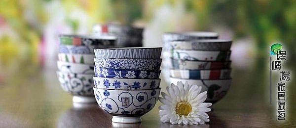 套裝陶瓷蘭花碗(一套)