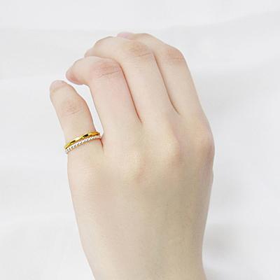 64DESIGN戒指 麻花戒+方扭戒  麻花 戒指  925純銀戒指(雙件組)