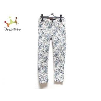 マックス&コー MAX&CO. パンツ サイズ40 M レディース 美品 白×マルチ   スペシャル特価 20200227