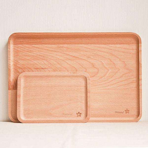 方形櫸木 點心盤 麵包盤 實木無漆果盤 ( 小)