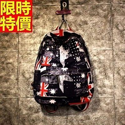 後背包-帆布時尚美國國旗雙肩男雙肩包-2色67g16【巴黎精品】