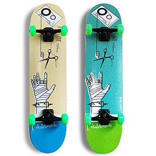 專業 初級四輪滑板 雙翹  藍磁帶整板