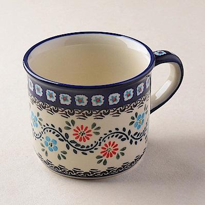 波蘭陶 典雅花團系列 陶瓷馬克杯 400ml 波蘭手工製