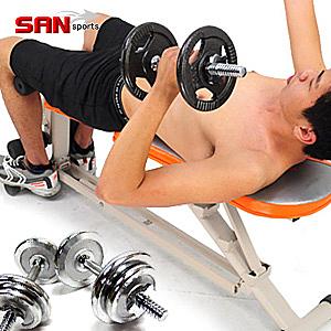 舉重床+啞鈴│怪力重量訓練機+40磅槓鈴組合.仰臥起坐板.仰臥板.運動健身器材重訓專賣店特賣會