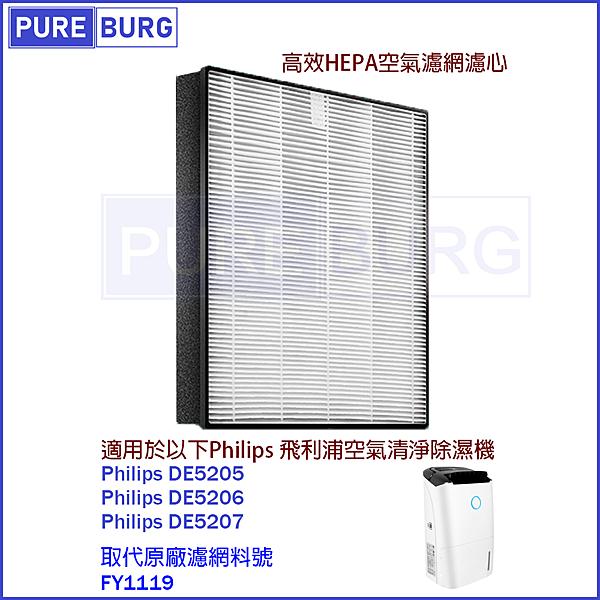 適用Philip飛利浦 DE5205 DE5206 DE5207 FY1119 空氣清淨除濕機 副廠濾網