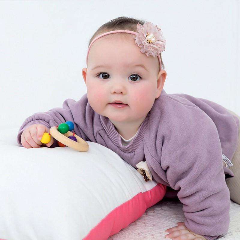 熱銷兒童超柔髮飾 時尚寶寶薄紗拼接組合花髮圈發繩【IU貝嬰屋】