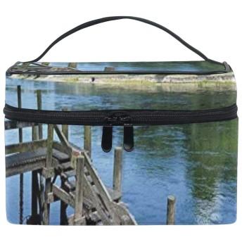 水原君の市場 屋外 大容量化粧ポーチ コスメバッグ ファスナー シンプル 旅行 機能的 小物入れ 化粧道具