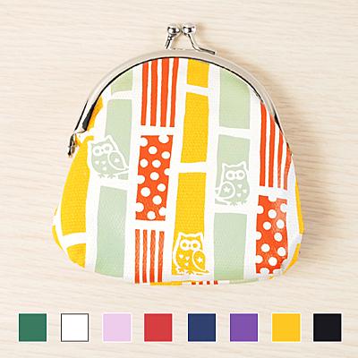 日本 kurochiku 和風物語珠扣包-亮銀圓口(小) (共8色) ◤apmLife生活雜貨◢