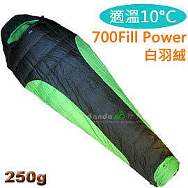 丹大戶外用品 億大【Pickel】250高級透氣羽絨睡袋 露營旅遊 防水保暖耐寒至10°C多款顏色 型號2166綠