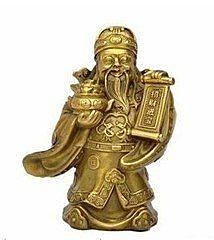 開光銅文財神爺佛像擺件