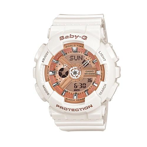 CASIO BABY-G/前衛風格運動錶/白/BA-110-7A1DR