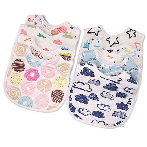 嬰兒圍兜 雙面純棉口水巾 新生兒口水巾 卡通 U型圍兜兜 RA11543 好娃娃