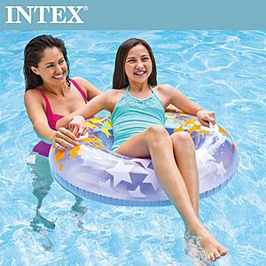 【INTEX】閃亮星泳圈-隨機出貨(91cm)適用9歲+(59256)