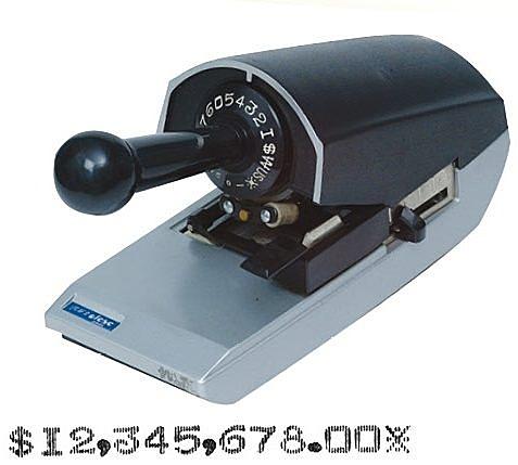 歐菲士 支票機 2001 數字